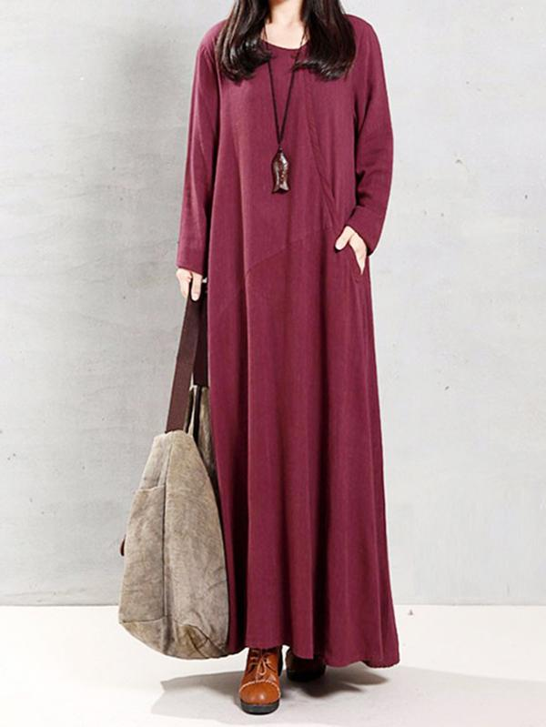 National Super Loose A-line Long Dress