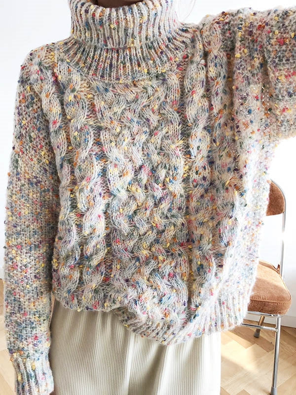 Colorful Thickening Turtleneck Sweater