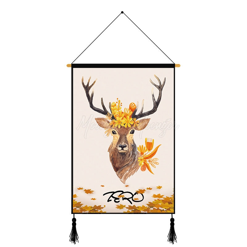 Modern Deer Printed Wall Hanging Decoration