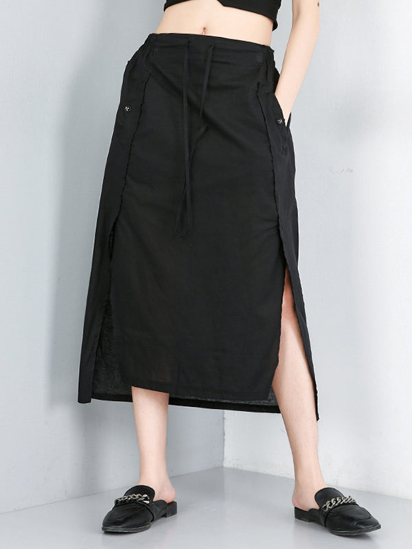Split-side Asymmetric Skirt