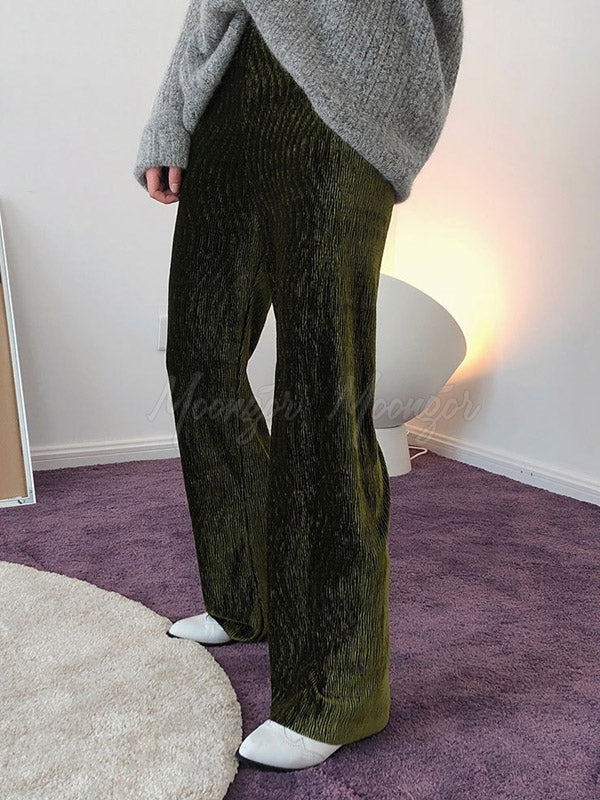 Trendy Pleated Empire Wide-Leg Pants