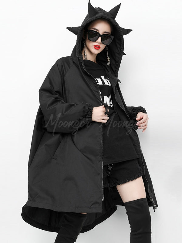 Loose Lovely Hooded Outwear