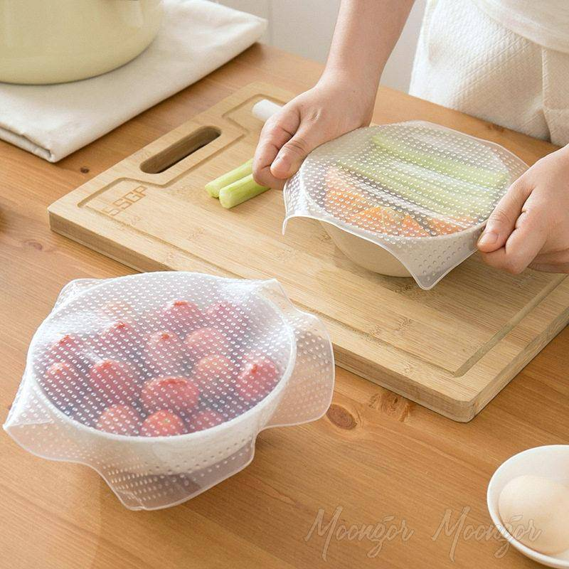 Reusable Seal Cover Stretch Silicone Fresh Food Wrap