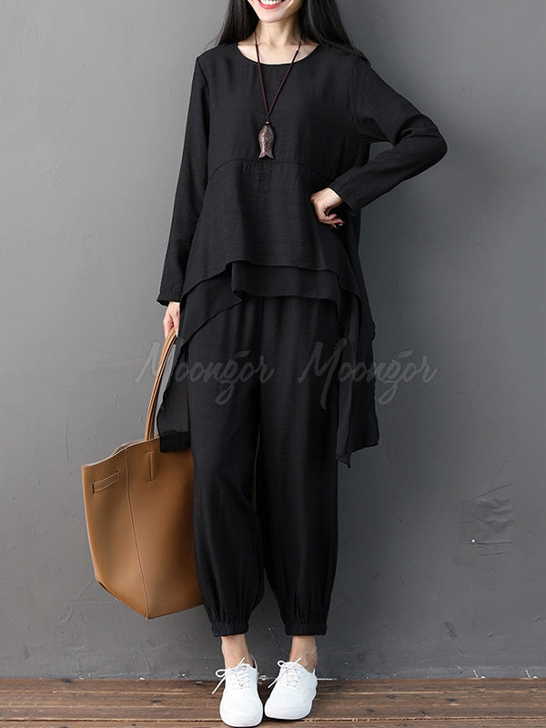 Loose Cropped Soft Suits