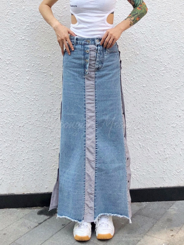 Fashion Designed Split-side Long Skirt