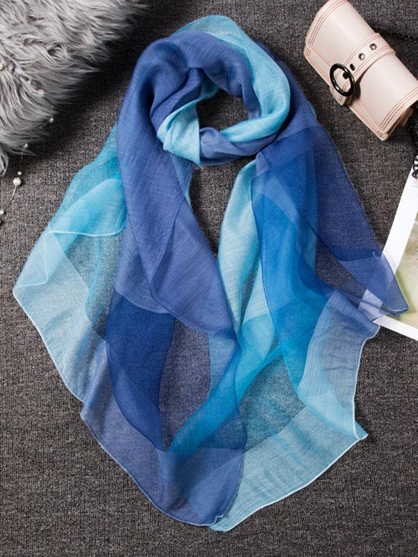 Silk Gradient soft scarf
