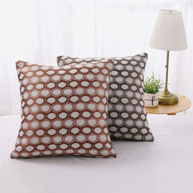 Polygonal Geometric Print Pillowcase