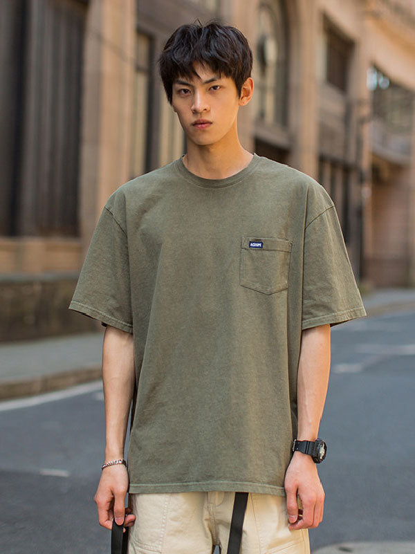 Casual Pure Color T-shirt