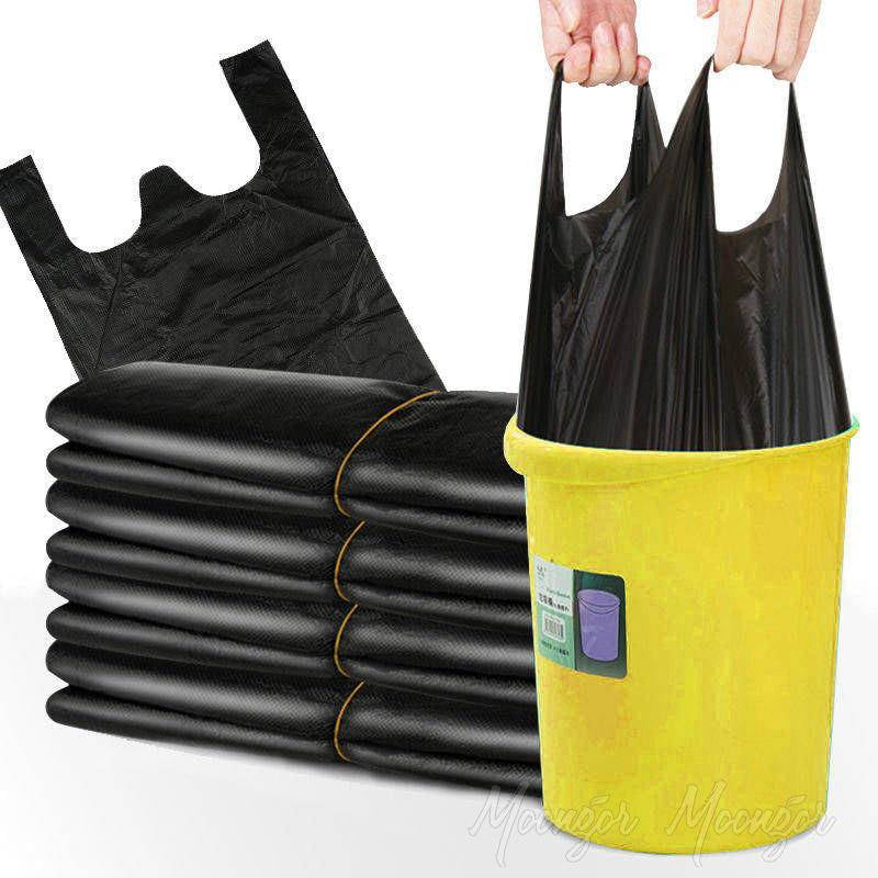 2 Rolls (100 Pcs) Home Portable Garbage Bags
