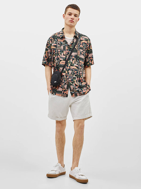 Vacation Lapel Printed Men Shirt