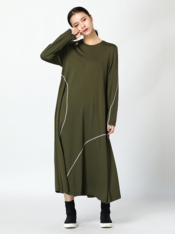 Casual Comfortable Wire Design Long Dress
