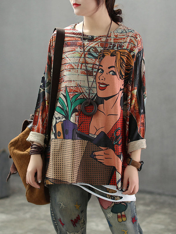 Vintage Loose Sweater Tops