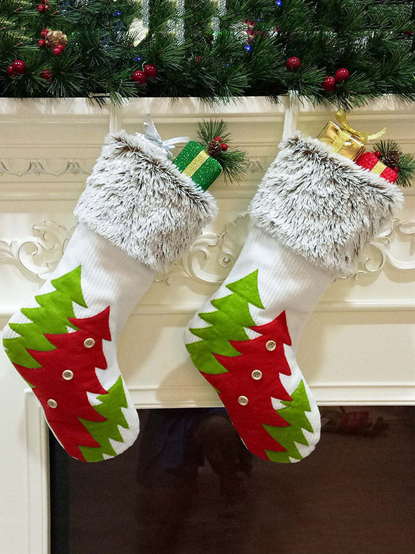 Christmas Tree Pattern Stockings Gift Decorations