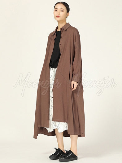 New Casual Pure Color Long Shirt Cover-up