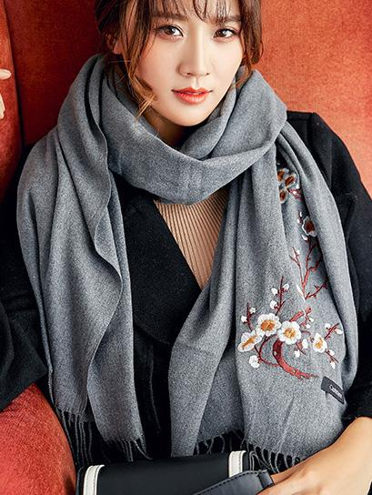 National Embroidered Soft Scarves