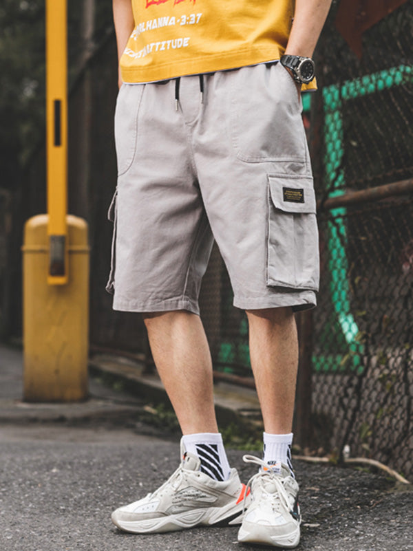 Cotton Loose Men Straight Leg Shorts