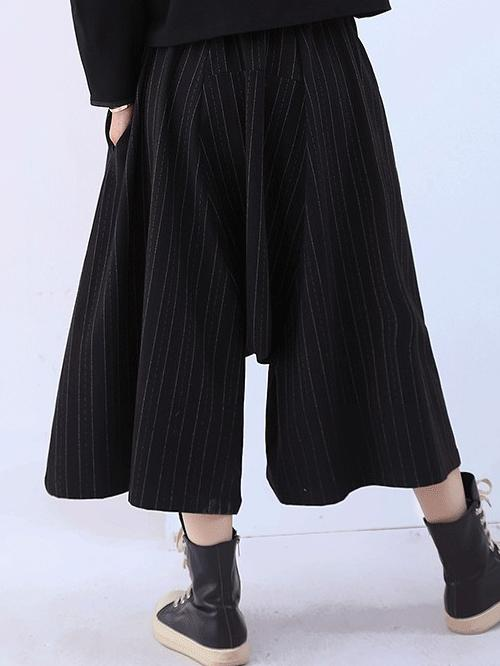 Plus Size Ramie Cotton Wide Leg pants