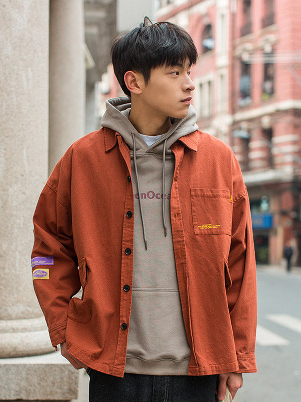 Vintage Letter Men Casul Jacket