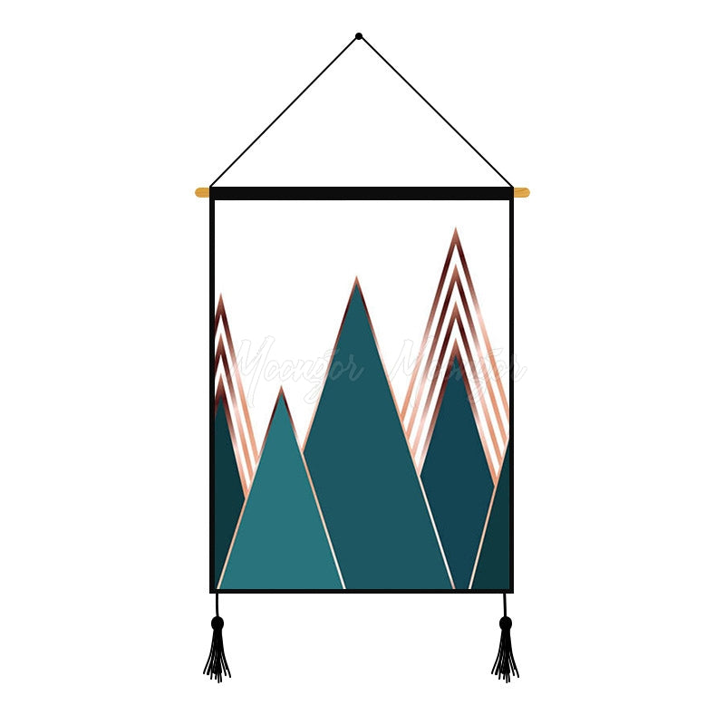 Mountain Geometric Printed Wall Hanging Decoration