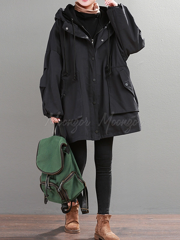Loose Velvet False-two Coat Outwear