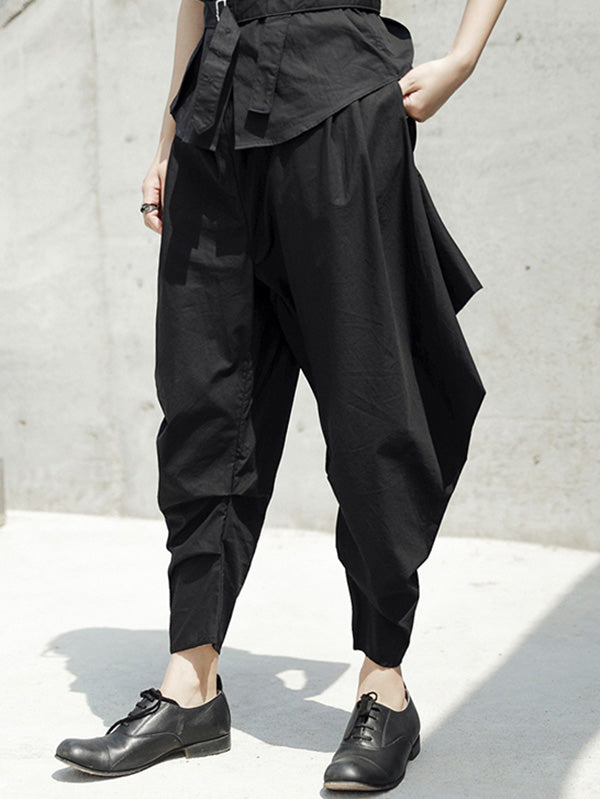 Loose Black Harem Pants