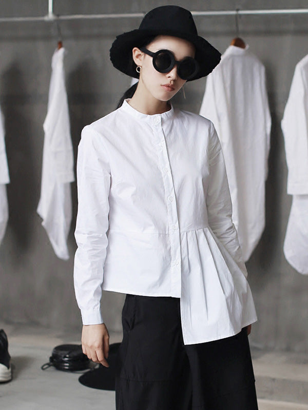 Cool Designed Split-joint White Shirt
