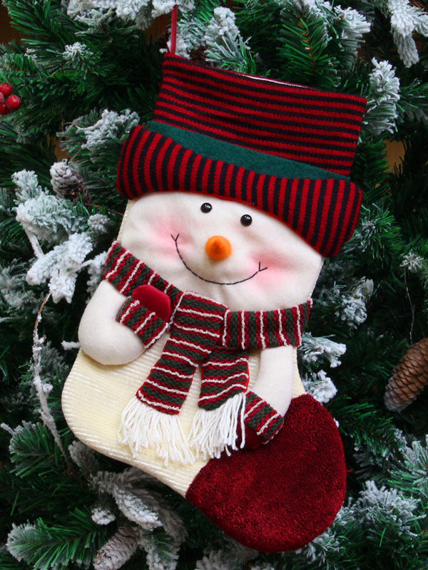 Soft Christmas Santa Sock Pendant