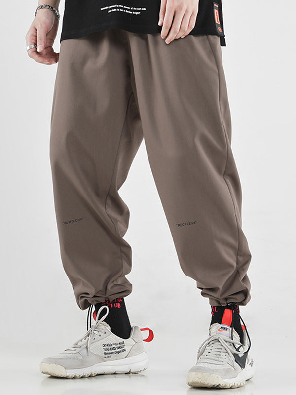 Casual Pure Color Ankle-tied Pants