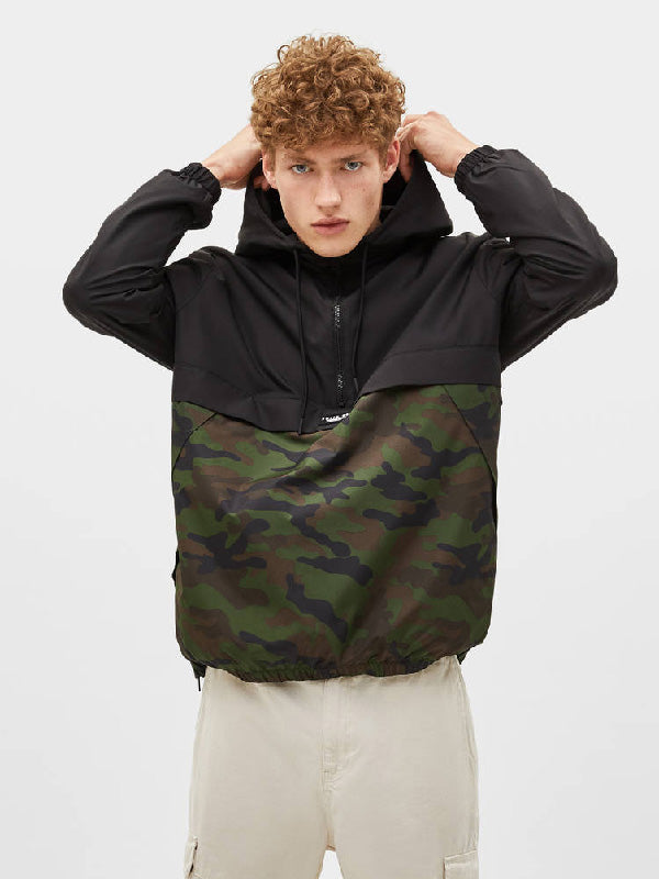 Loose Hooded Men Camouflage Jacket
