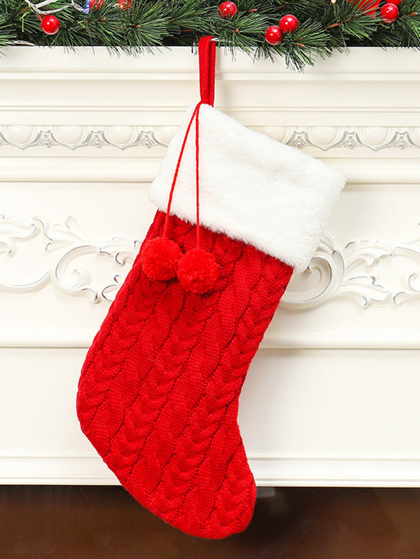 Christmas Knitted Wool Jacquard Stockings