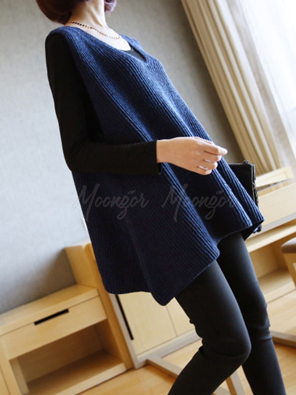 Casual V-Neck Knitting Vest