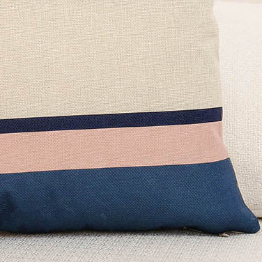 Striped Color Block Printed Cushion Pillow