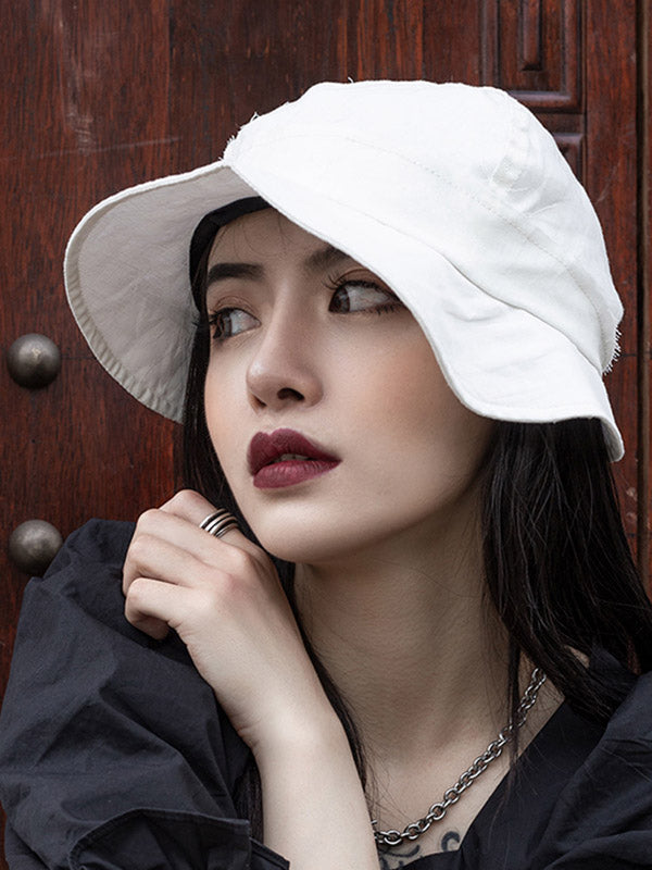 Summer Fringed Solid Bucket Hat