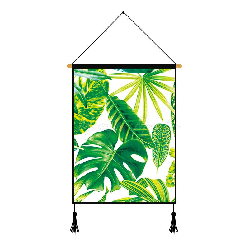 Monstera Plants Leaves Printed Wall Hanging Decoration