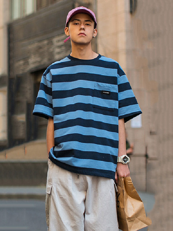 Casual Colorful Striped T-shirt