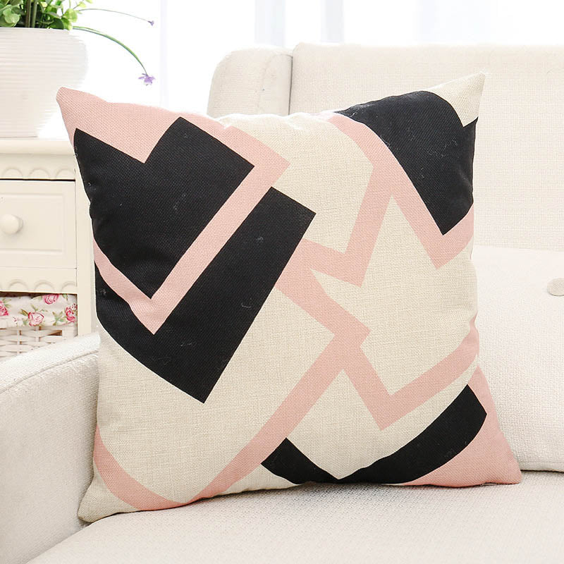 Geometric Printed Pillow Case
