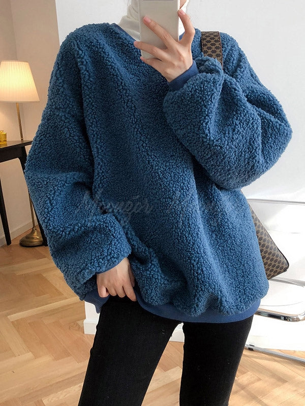 Loose Lamb Wool Thicken Sweatshirt