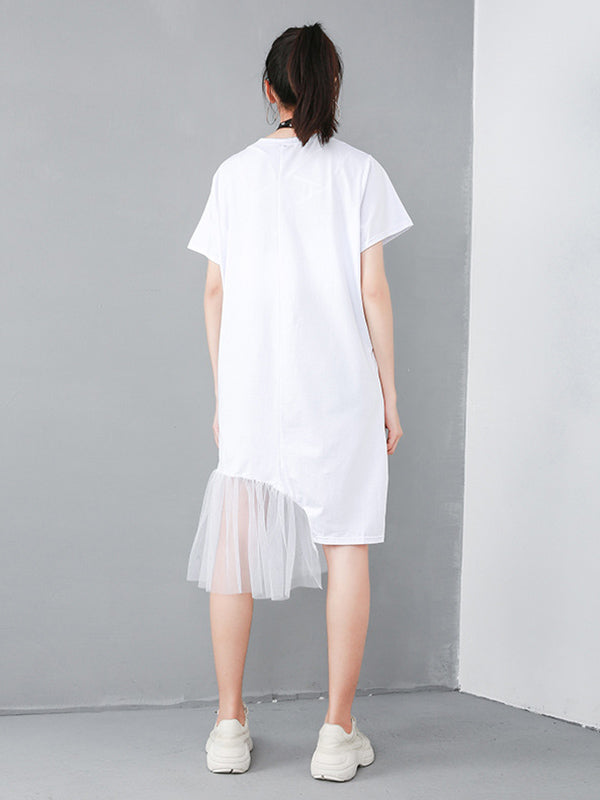 Casual Cropped Split-joint Dress