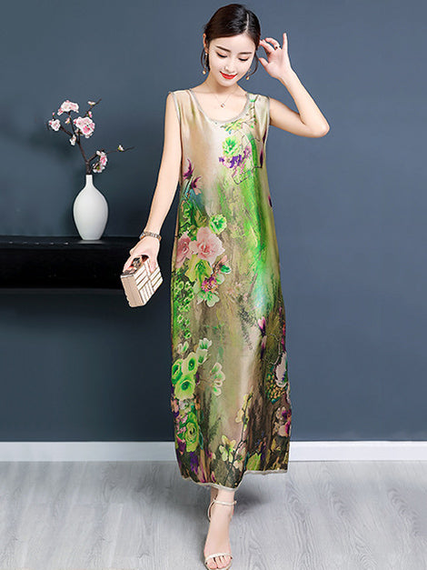 National Style Super Loose Long Dress