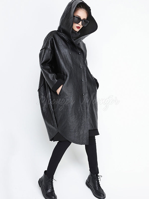 Loose Fleece Lined Fur Coat