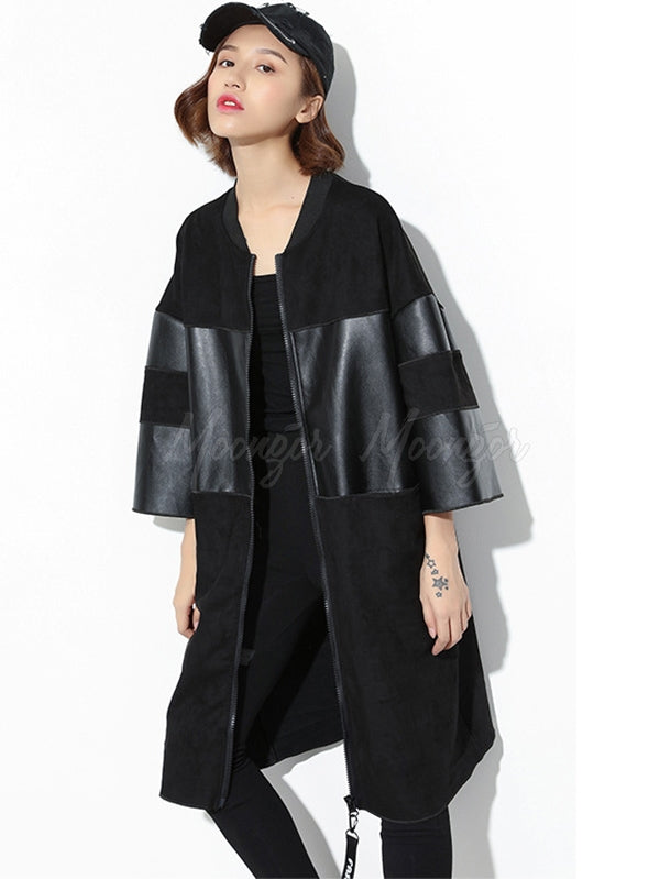 Causal Pu Split-joint Outwear