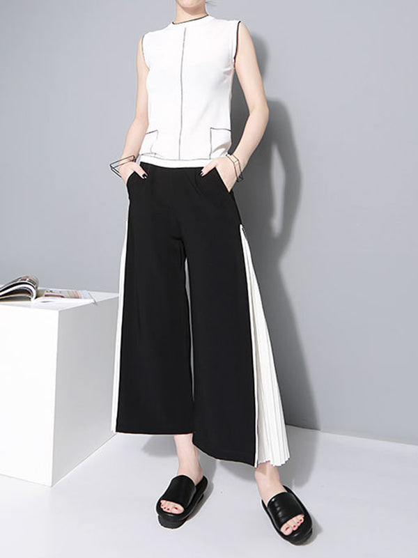 Chiffon Split-joint Wide-leg Pants