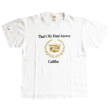Vintage 2000s Cadillac 'That's My Final Answer' T-Shirt