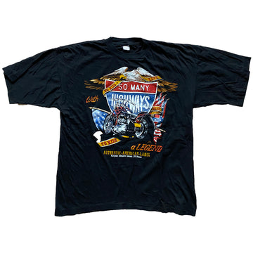 Vintage 90s 'So Many Highways To Ride' T-Shirt