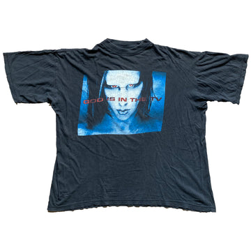 Vintage 1998 Marilyn Manson 'God Is In The TV' T-Shirt