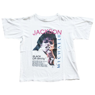 Vintage 90s Michael Jackson 'Black Or White' T-Shirt