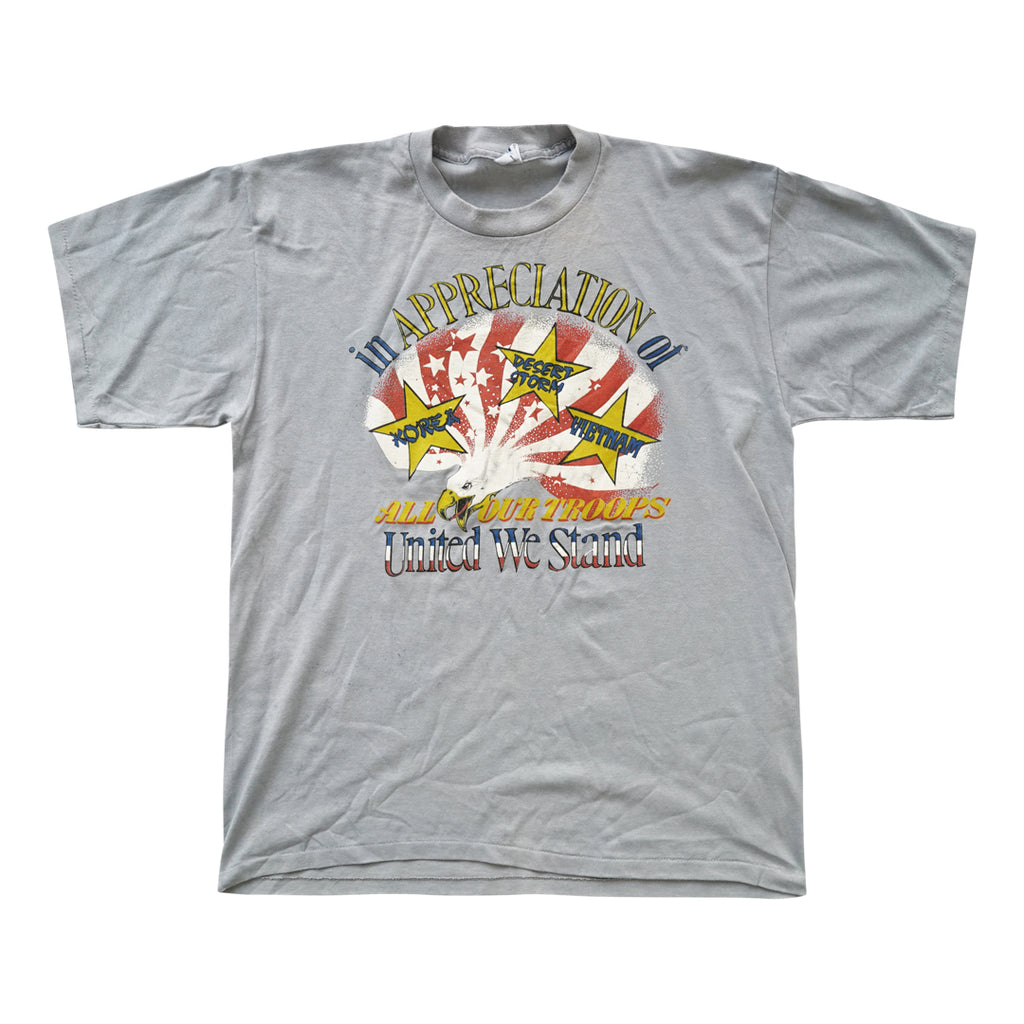 Vintage 90s In Appreciation Of All Our Troops T-Shirt