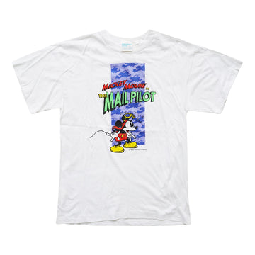 Vintage 1996 Mickey Mouse 'In The Mail Pilot' T-Shirt