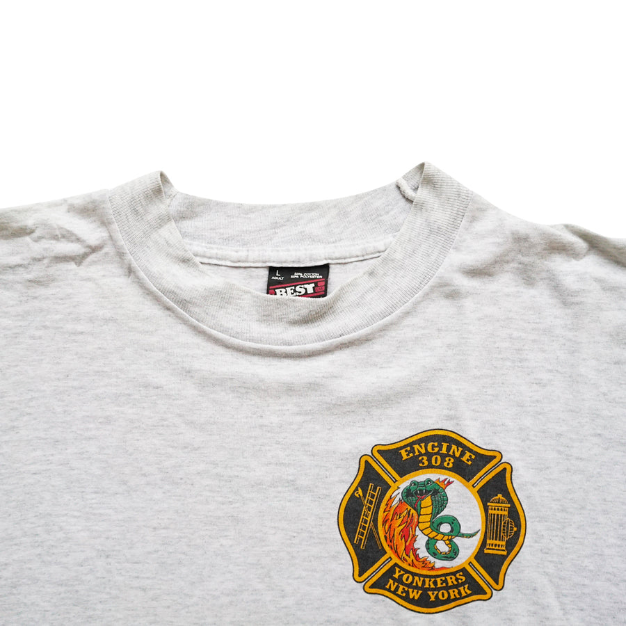 Vintage 90s Engine 308 'Yonkers, New York' T-Shirt