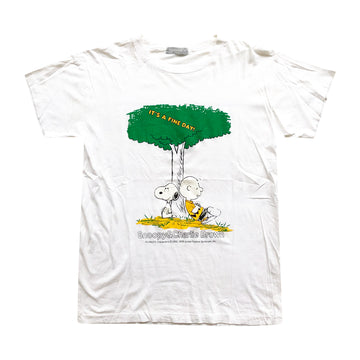 Vintage 80s Snoopy & Charlie Brown 'It's A Fine Day!' T-Shirt